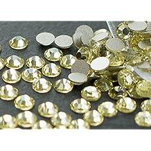 Flat back Crystal 2058 Swarovski Rhinestone No Hotfix Round 213 Jonquil SS16 4mm 72 pcs (Yellow)