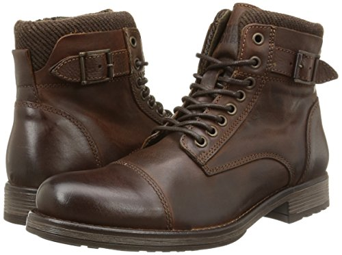 new concept 83084 4ad5f Jack & Jones Jjalbany Leather Boot Brown Stone, Men's Cold Lined Classic  Boots Half Length