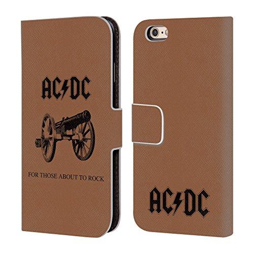 Officiel AC/DC ACDC Pour Ceux Étant Sur Le Point Rock Couverture D'album Étui Coque De Livre En Cuir Pour Apple iPhone 6 / 6s