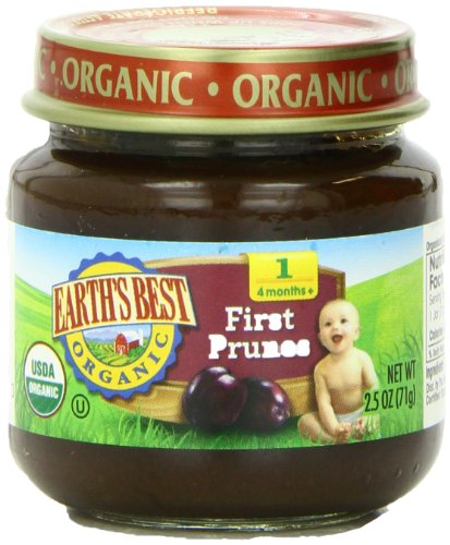 Earth's Best Organic Stage 1, Prunes, 2.5 Ounce Jar (Pack of 12) - Prunes Organics Stage 2