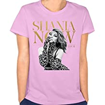 Womens Shania Twain Now Logo Vintage Short Tees Youth Particular Shirt Pink