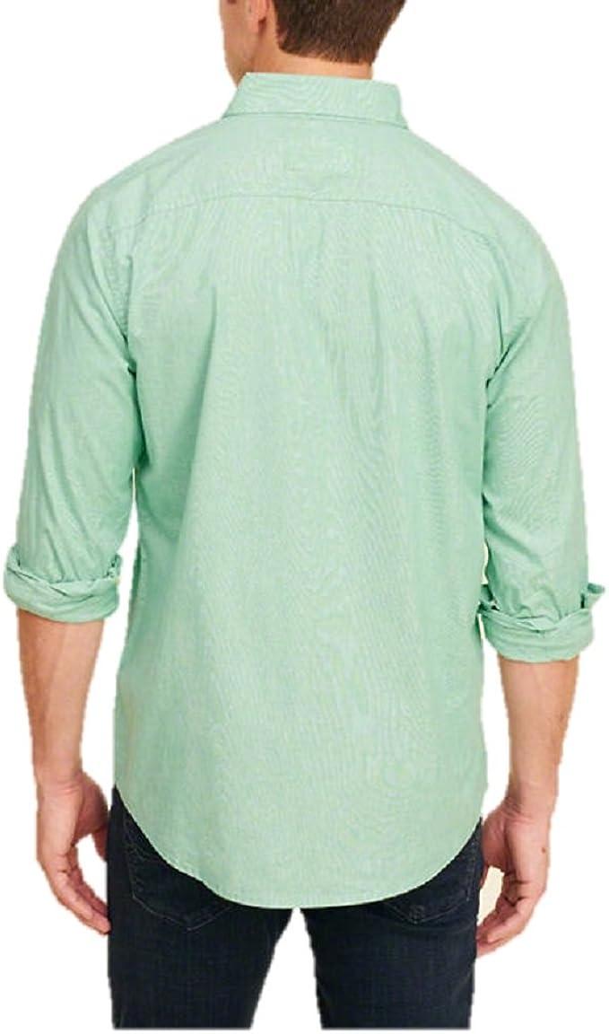 Hollister - Camisa Casual - Manga 3/4 - para Hombre Verde ...