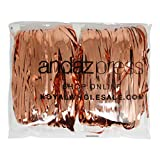 Andaz Press Rose Gold Foil Fringe Party Door Curtain, 2-Pack, 6-Feet Total Width x 8-Feet Height, Shiny Metallic Copper Champagne Themed Bridal Shower Supplies