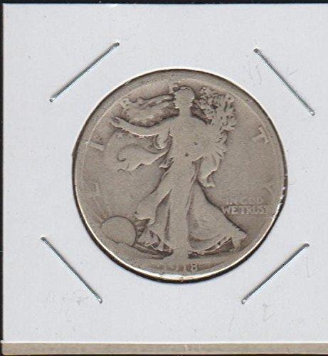 Dollar 1918 Half Silver (1918 Liberty Walking (1916-1947) Half Dollar Very Fine)