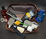 Genuine Leather Travel Cosmetic Bag - Hygiene
