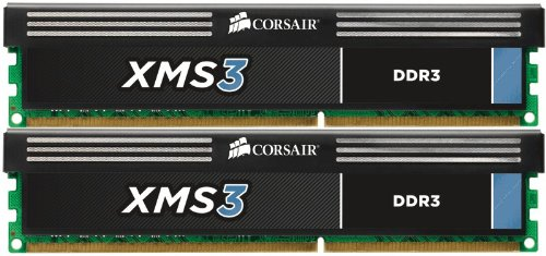 Corsair 16GB XMS3 (2x 8GB) DDR3 SDRAM 1600MHz 240-Pin 16 Dual Channel Kit DDR3 1600 (PC3 12800) CMX16GX3M2A1600C11 by Corsair