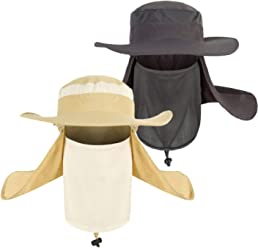 Lightbird Sun Hat Men Removable Neck Face Flap Hat e5789987d71d