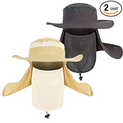 e9aa7366a Lightbird Sun Hat Men Removable Neck Face Flap Hat, Sun UV Protection  Breathable Bucket Hat, Lightweight Boonie Cap for Outside  Work,Hiking,Fishing ...