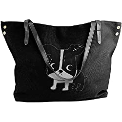 Boston Terrier Women Stylish Tote Shoulder Bag Dumpling Handbag