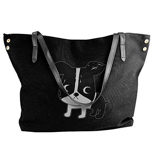 Boston Terrier Women Stylish Tote Shoulder Bag Dumpling