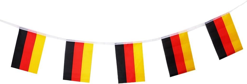 Banderas De La Bandera De La Bandera De La Nación De Brasil Banderas para Las Decoraciones del Partido De La Barra del Deporte Los 5.5m - 5.5 Metros (20 pcs Alemania): Amazon.es: