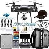 DJI Phantom 4 Pro Plus Obsidian Quadcopter Drone w/DJI Pilots Hat & Hard Shell Backpack Bundle