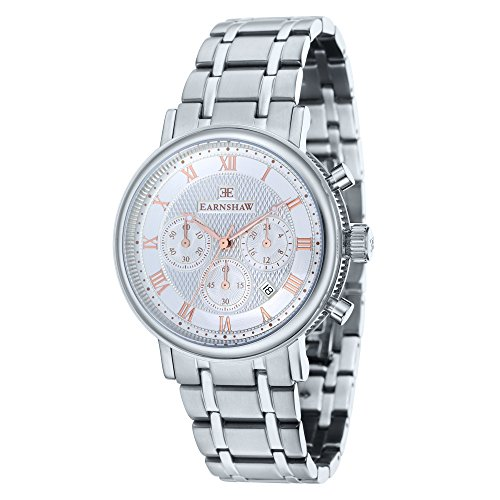 Thomas Earnshaw Men's 'BEAUFORT' Quartz Stainless Steel Casual Watch, Color:Silver-Toned (Model: ES-8051-11)