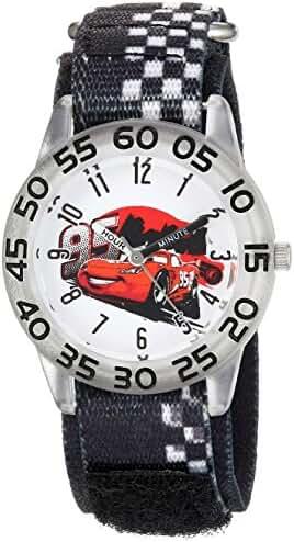 Disney Boy's 'Cars' Quartz Plastic and Nylon Casual Watch, Color:Black (Model: WDS000023)