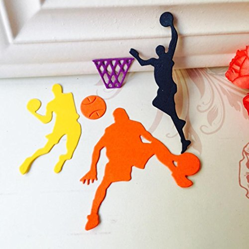 Slam Dunk Metal Die Cutting Dies Handmade Stencils Template Embossing for Card Scrapbooking Craft Paper Decor By E-SCENERY