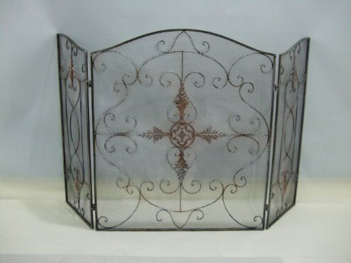 rustic copper mesh fireplace screen cross design buy online in