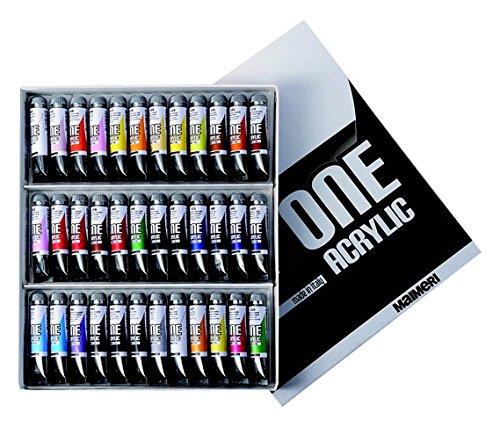 5 opinioni per Industria Maimeri 1098036 Colori Acrilici 36 Tubi