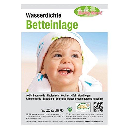 Odenwälder 10020 - 40/50 cm Wasserdichte Betteinlage weiss Modell 2012/13