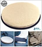 Garden Mile® 40cm Fleece Padded Car Mobility Aids For Cars And Chairs Swivel Car Seats Rotating Car Seat Cushions Large Swivel Car Seat Cushions For Disabled.