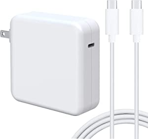 96W USB C Power Adapter Charger, Compatible with MacBook Pro 16, 15, 13 inch, iPad Pro12.9, 11, 2020/2019/2018 New Air 13 inch, Quick Charger with 6.6ft USB C Cable, Type C