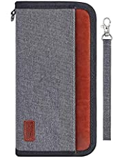 OrgaWise Porte Passeport de Voyage Familial avec Blocage RFID pour Passeports, Cartes D'Identité, Cartes de Crédit, Billets d'avion, Accessoires de Voyage, Étanche et Durable