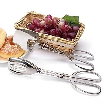Pinzas de tijeras de acero inoxidable parrilla comida para ...