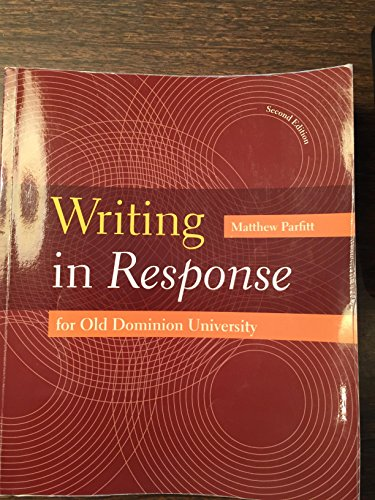 Writing in Reponse for Old Dominion University
