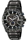 時計 Citizen シチズン Men's AT4007-54E Perpetual Chrono A-T Black Stainless Steel Watch メンズ 男性用 [並行輸入品]