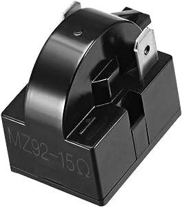 uxcell 15 Ohm 2 Pin Refrigerator PTC Starter Relay Black