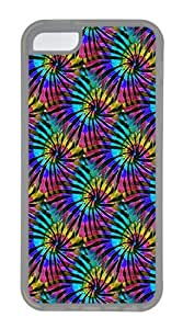 IMARTCASE iPhone 5C Case, Tie Dye Multi Colored Seamless Case for Apple iPhone 5C TPU - White