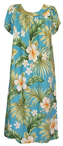Muumuu Full Ankle Length Women's Bloom RJC Dress Blue CqPxp6qwt