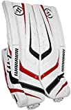 Warrior Senior Ritual Goalie Hockey Leg Pads, White/Black/Red, 32-Inch