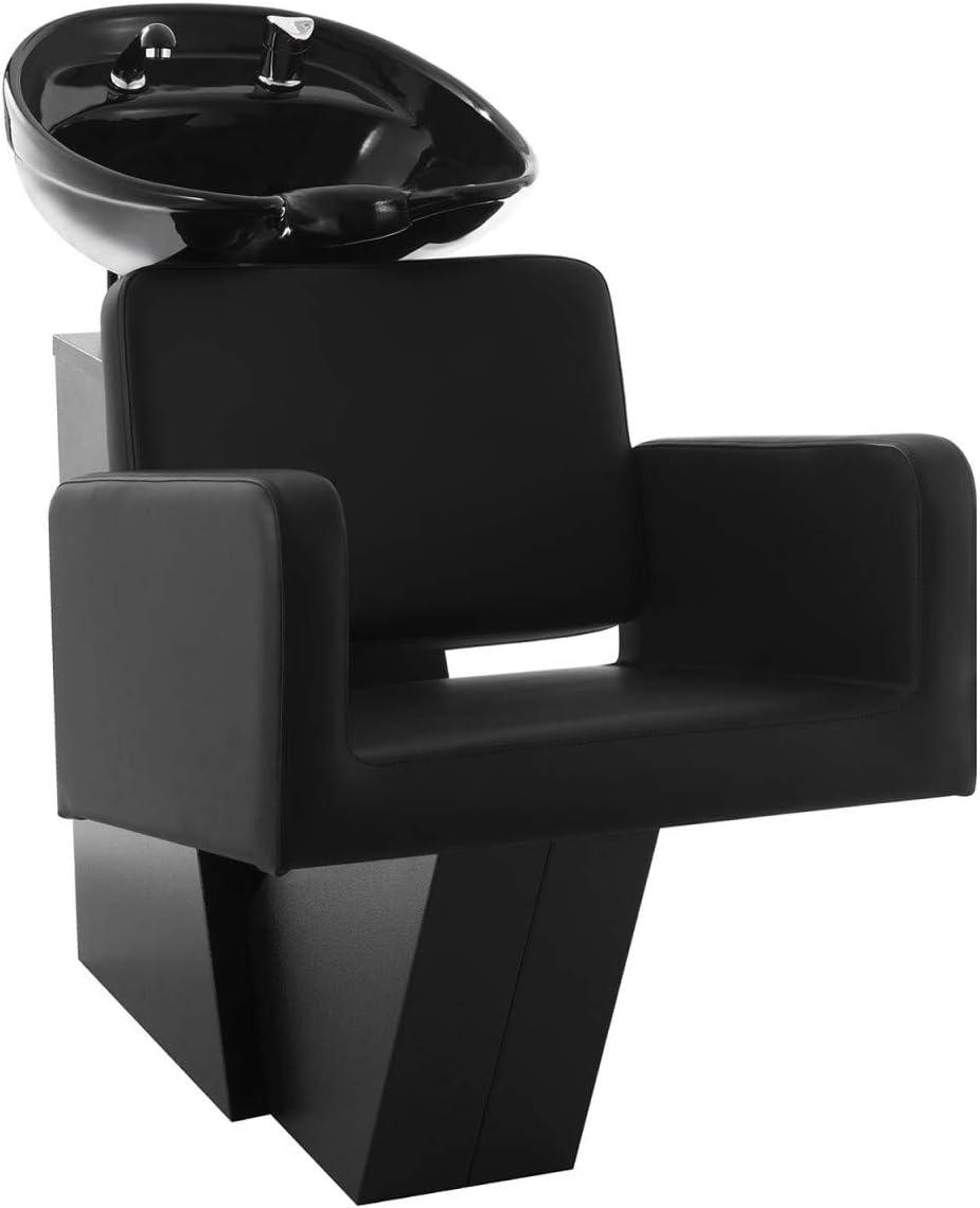 Bac à Shampoing Coiffure Lave-Tête Salon de Beauté 47*46*25cm Cuvette Carré