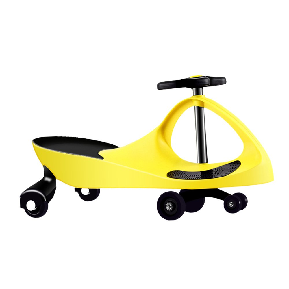 Needit Findit Ride On Car for Boys and Girls, No batteries, gear, Wiggle Twist Car, Funny Toy for Kids (Yellow)