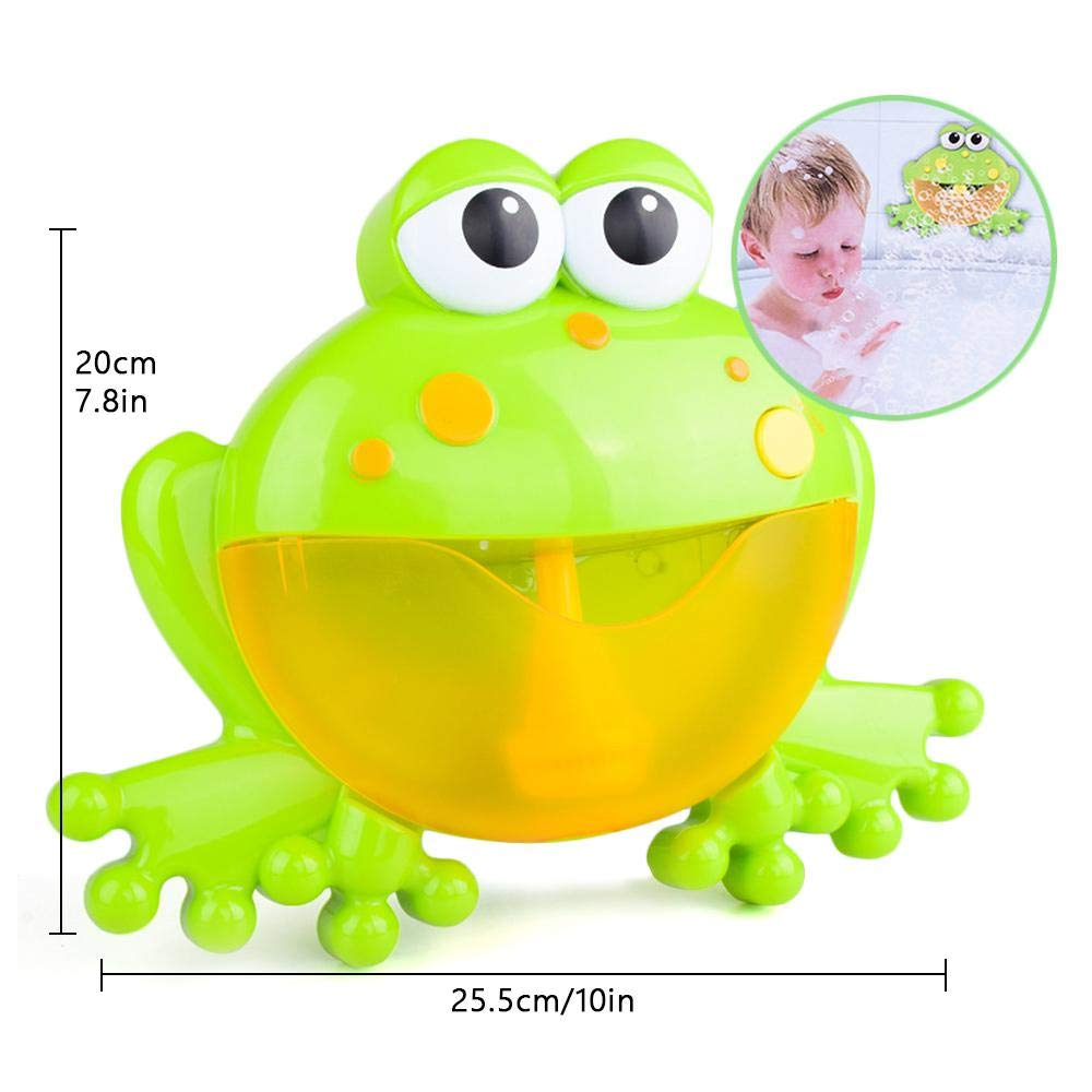 Foonee 12 Nursery Rhymes Frog Bubble Machine for Kids Kids Bath Bubble Machine Baby Bubble Machine Gives Kids a Happy Bath Time