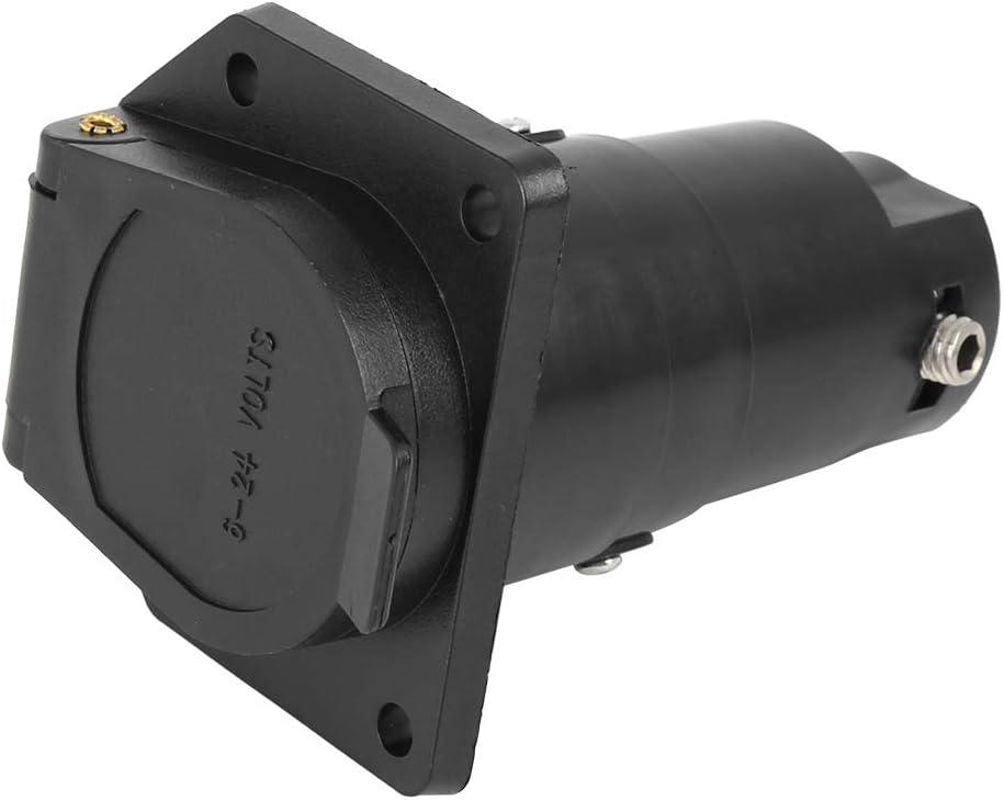 X AUTOHAUX 7 Way Round Car Trailer RV Plug Female Socket Adapter Connector Converter