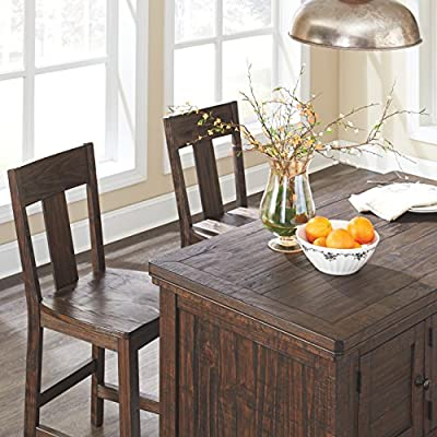 Ashley Furniture Signature Design - Trudell Dining Room Extension Table - Solid Pine Wood Construction - Dark Brown