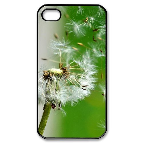 Andy iPhone 4,4s Case,Personalized Custom Colorful Flying Dandelion,Unique Design Protective TPU Hard Phone Case Cover