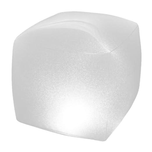 23 22 piscinasforma cm Cubo LED de para x 23 28694 Intex flotante x Lámpara rtQChsdx