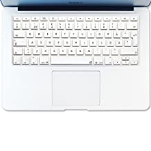 """Masino ARABIC Language Silicone Keyboard Cover Skin for European Version MacBook Air 13"""" MacBook Pro with/out Retina Display 13""""15"""" 17"""" Apple Wireless Bluetooth Keyboard MC184LL/B (Silver Color)"""