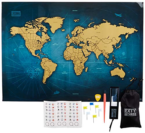 (Exty Scratch Off World Map - 24