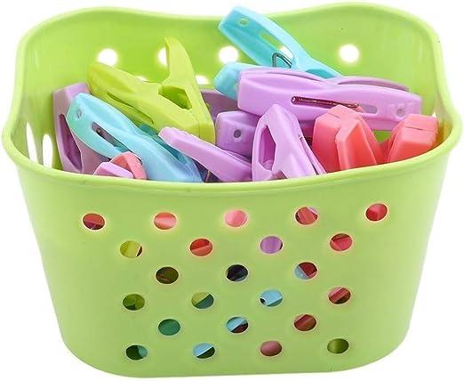 Cesta Armario Rejilla Caja de plástico Joyas Armario de escritorio 2 PCS Ropa Clavijas for lavar