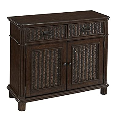 Home Styles Furniture 5547-61 Castaway Buffet - Two felt-lined drawers with dividers Two doors that lead to storage with two adjustable shelves Exquisite aged bronze hardware - sideboards-buffets, kitchen-dining-room-furniture, kitchen-dining-room - 513OHV00OUL. SS400  -
