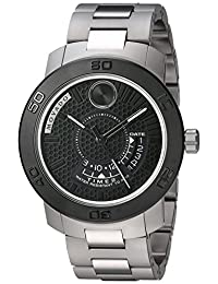 Movado Men's Swiss Quartz Stainless Steel Automatic Watch, Color:Silver-Toned (Model: 3600383)