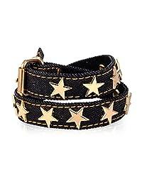 U7 Women Men Bracelet Star Design Soft Denim Wrap Bracelet Belt Buckle Bracelets