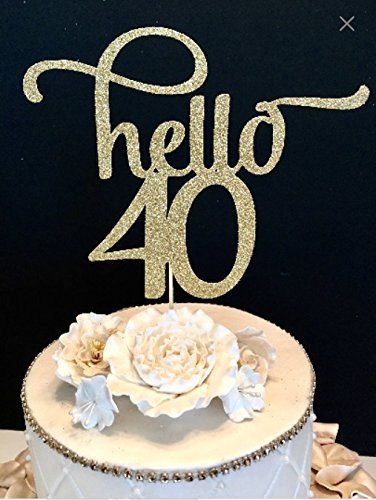 Price comparison product image Hello 40 Number Cake Topper