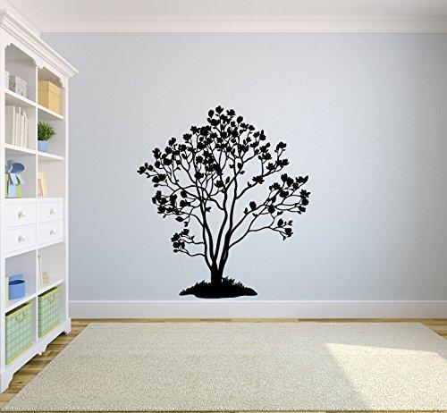 (Magnolia Tree Silhouette Vinyl Wall Decal Sticker)