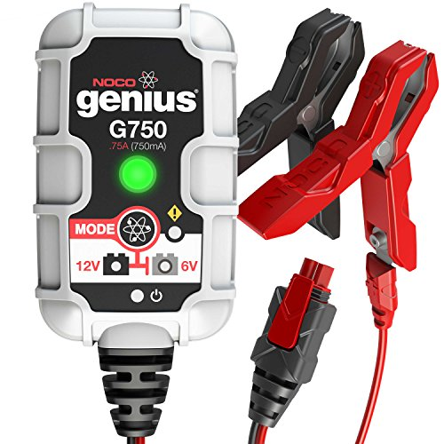 NOCO Genius G750 6V/12V .75A UltraSafe Smart Battery Charger (Racing Battery Red Cat Case)