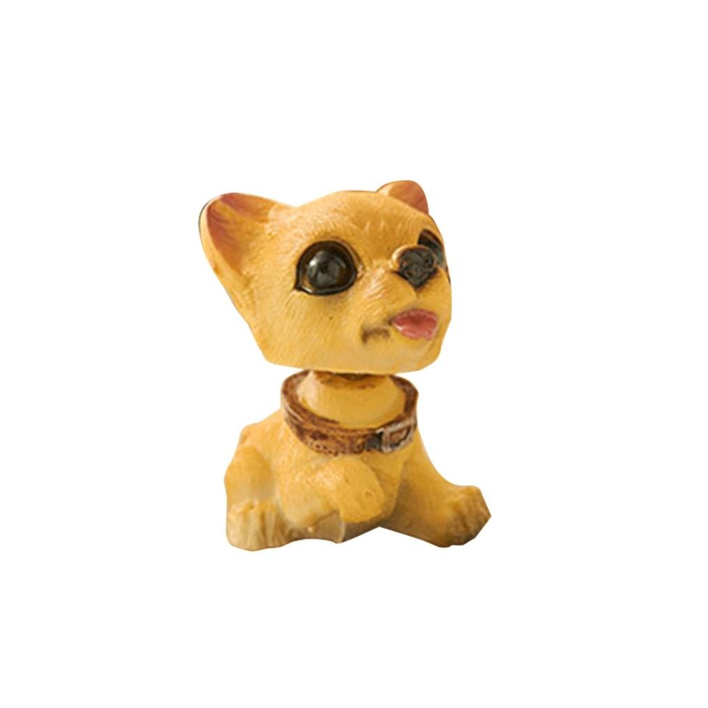 Car Decor Toy, Hunpta Animal Swinging Dancer Toy Car Decor Nodding Resin Puppy Dog (E) Hunpta@