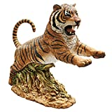 Design Toscano Jungle Cat Leaping Bengal Tiger Statue For Sale
